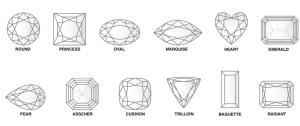 Vormen en benaming diamant